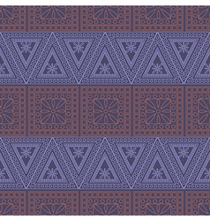 Pattern symmetrical geometric with red and blue vector