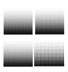 Set of halftone vector