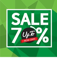 Sale up to 70 percent banner vector
