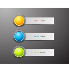 Button and labels vector