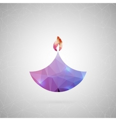 Abstract creative concept icon of diwali vector