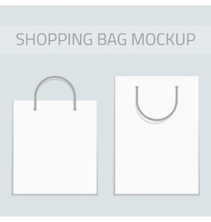 Blank shopping bag mockup vector