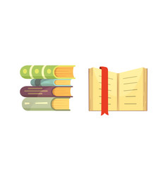 books set in cartoon design style isolated on vector image vector image