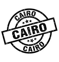 Cairo black round grunge stamp vector