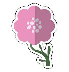 Cartoon peony flower decoration image vector