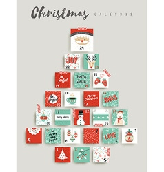 Christmas advent calendar cute ornament decoration vector