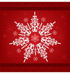 christmas snow ornament vector image
