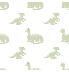 Dinosaurs on seamless background vector image vector image