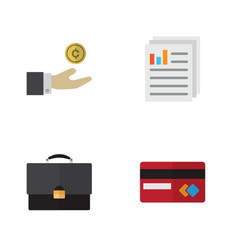 Flat incoming set of document payment portfolio vector