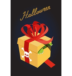 Gift for halloweenmonster in a box fear a terrible vector
