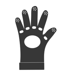 Glove icon industrial security design vector
