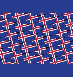 Grunge iceland flag or banner vector