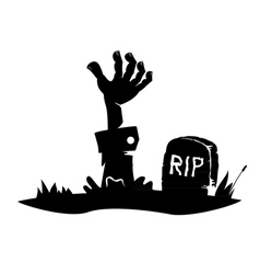 Hand reaching from the grave vector image vector image