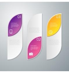 Infographics three rectangles vector
