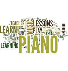 Learn to read piano music text background word vector