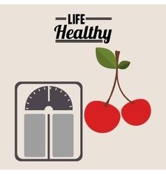 life healthy design vector image