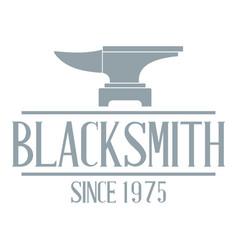 Master blacksmith logo simple gray style vector