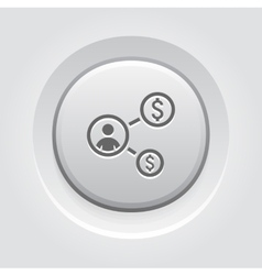 Return on investment icon business concept vector