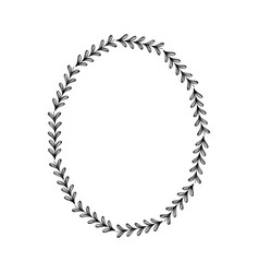 Rustic circle branches with leaves design vector