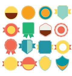 Set of color retro vintage badges and labels vector image vector image