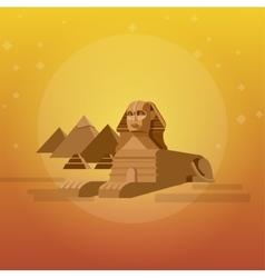 Sphinx background world landmark vector