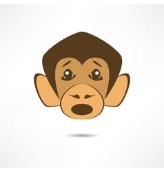 Surprised monkey vector image vector image
