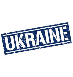 ukraine blue square stamp vector image