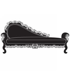Vintage upholstered entrance bench vector