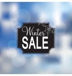 Winter sale poster vector