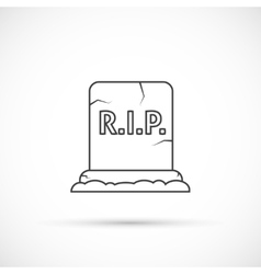 Grave outline icon vector