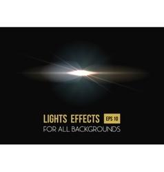 Solar flare or sun rays light effect background vector
