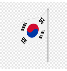 south korea flag isometric icon vector image