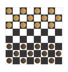Checker board game vector