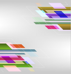 Abstract background with colorful straight lines vector