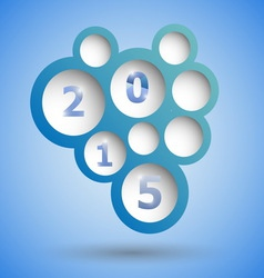 2015 with abstract blue speech bubble background vector