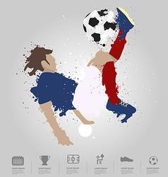 Soccer player kicks the ball vector image