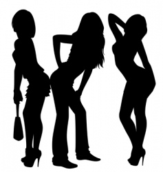 sexy ladies vector image