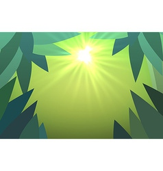 Abstract jungles background with sun rays vector