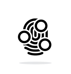 Fingerprint whorl type scan icon on white vector