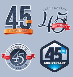 45 Years Anniversary Logo vector image vector image