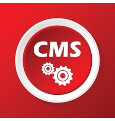 Cms icon on red vector