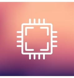 Cpu thin line icon vector