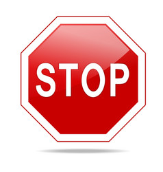 Red stop sign vector image