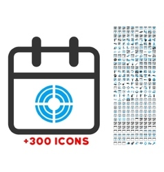Target day icon vector