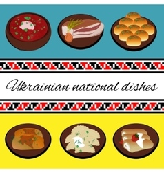 Ukrainian national cuisine vector