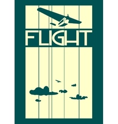 Retro airplanes flight on striped backdrop vector