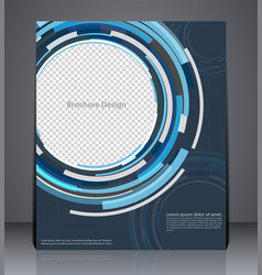 Abstract digital business brochure flyer design vector
