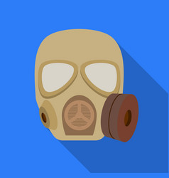 Army gas mask icon in flat style isolated on white vector