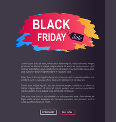 Black friday sale prom web poster advertising info vector