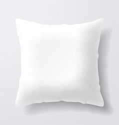 Blank white square pillow vector image